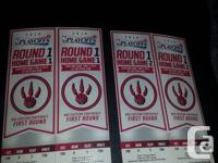 Section 108, row 8.  Two seats, side by side, midcourt,