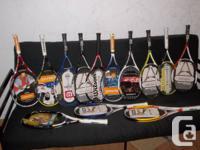 Plusieurs raquettes de tennis neuves et espadrille de