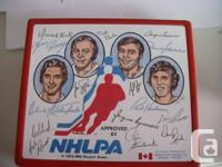 1974 Accepted by the NHLPA signatured by 15 NHL