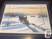 Allen Sapp artwork beautifully framed (cost was $300 to