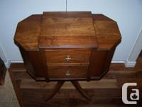 Selling an antique walnut sewing table / knitting table