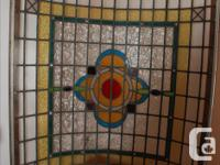 Antique, rare, late Victorian British stained class