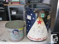 Rare North Star Oil Grease Pails , North Star was taken