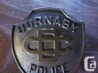 Burnaby British Columbia Authorities Badge. Burnaby