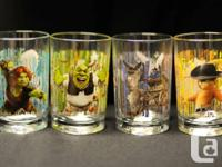 Shrek Glasses, Set of 4, Recalled by McDonalds  Rare