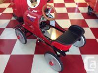 Brand new Speed Racer pedal Car. Steel body, Very rare.