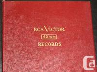 !950's RCA Victor Album For Storing 45 RPM Records.