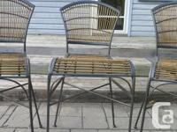 5 bar height stools originally purchased from Pier 1.
