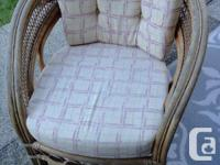 3 piece rattan patio set. includes love seat, high back