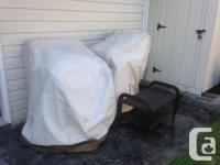 4 patio rattan wicker arm chairson galvanized steel