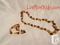My raw Baltic amber teething necklaces are ready for
