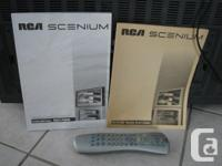 """RCA Scenium 52"""" TV, bought new, $4500 in the day. Still"""