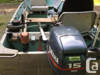 Complete package: 14' aluminum Lund boat, 2000