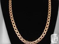 Selling 24K Gold Layered 9 mm Diamond Mesh 20'' Chain
