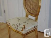 These are antique reproductions of gilded French cane