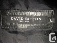 Real leather David Bitton moto jacket. Great condition,