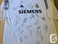 Real Madrid Signed Jacket 2005 Beckham, Zidane,