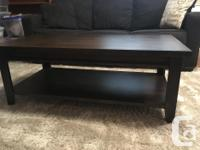 Tobacco stained real wood coffee table. Excellent