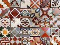 We offer these beautiful reclaimed cement patterned