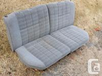 Cloth rear seats from a ~1990 Toyota 4Runner. Fabric is