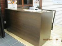 Great unit desk with reception unit, only used for a