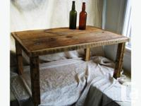 "BARN BOARD COFFEE TABLE 36""L X 20'W X 18""H = $185 TRI"
