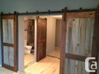 We make custom sliding barn doors. A beautiful addition
