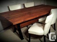 Hand crafted, rustic table using reclaimed barn
