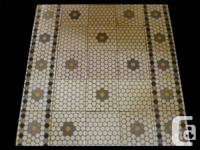 We offer these beautiful reclaimed Victorian mosaic