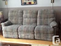 Reclining couch, $99. Great condition, 6 years old, no