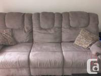 Hi all,  I am selling my Porto Taupe Reclining sofa