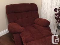Beautiful reclining sofa and chair in excellent