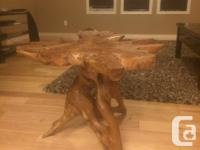 I have 2 gorgeous, one of a kind log end tables