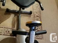 * Recumbent Bike has a comfortable and adjustable seat