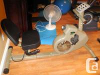 Linex exercise bike, recumbent-style, with pulse and