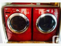 Maytag red front load washer & dryer 3000 series heavy