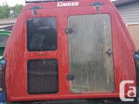 red raider truck topper 8ft truck box, has keys, 100