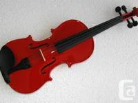 Red Violin 4/4,3/4 Size $119.00 All solid hand carved