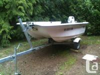 10 ft sportcraft fiberglass truline fishing boat. heavy