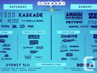 2 weekend passes for Saturday and Sunday at Escapade