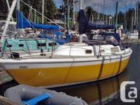 $14,900 OBO 27ft. Cal2-27 sailboat well maintained,