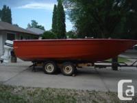 This boat was built by a family member from a 21.5 ft