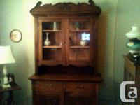 This Antique Stepback Cupboard, is over One Hundred