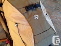Eco-friendly & & Tan Crumpler camera knapsack for sale.