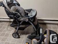 Selling lightly used stroller and infant car seat. Both