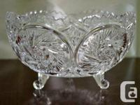 I am marketing a flawless Pinwheel Crystal 3-Footed