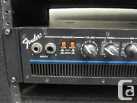 This is a Fender bass 300 BXR amp head built in the