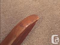 Absolutely lovely solid wood (possibly oak?) rocking