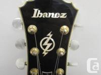 this is a slightly used, Ibanez Artcore AG95 hollowbody