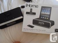 Dock and charge your devices, listen to your music or